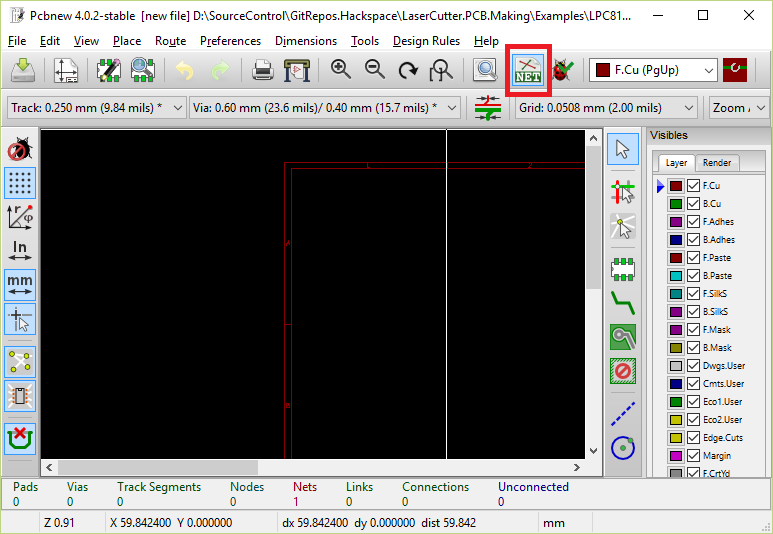 KiCad - Schematic to PCB - Manchester HacSpace - Laser PCB