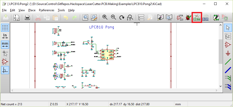 kicad  schematic to pcb  manchester hacspace  laser pcb, schematic