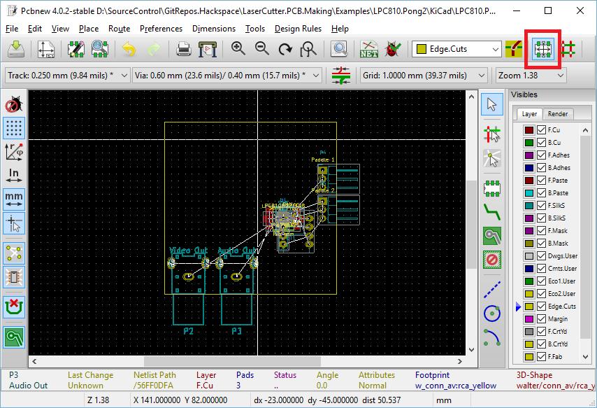 Kicad Parts Placement Manchester Hacspace Laser Pcb